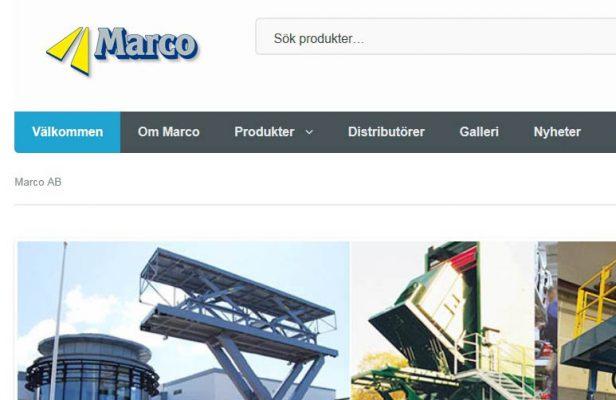 Webbsida för Marco AB